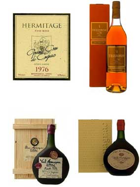 40 year old rare cognacs for 40th birthday and anniversary gifts