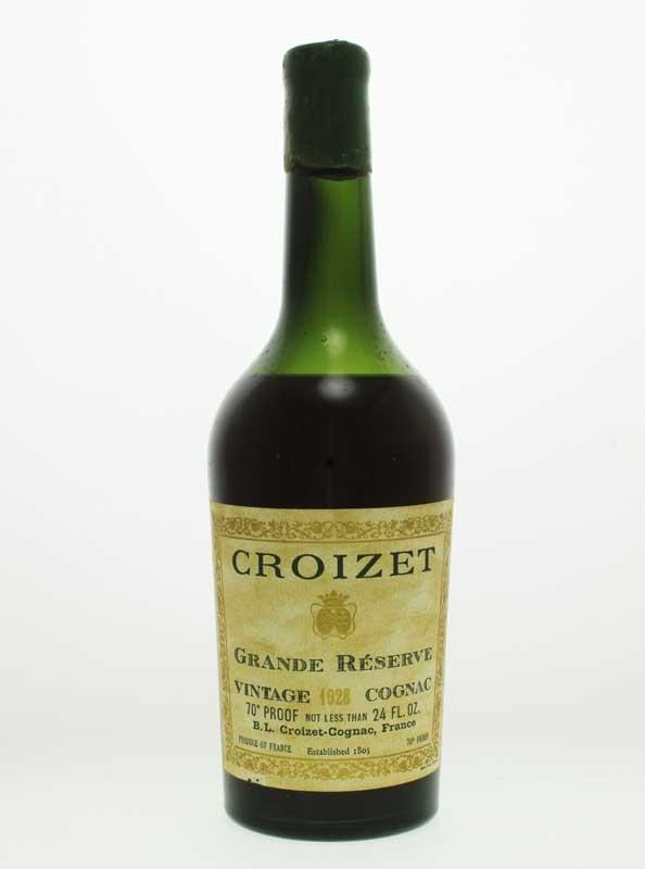 Croizet 1928 Grande Champagne Cognac
