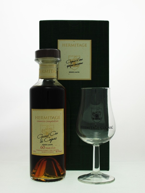 Cognac Glass Gift Set - Hermitage 60 Year Old Grande Champagne Cognac