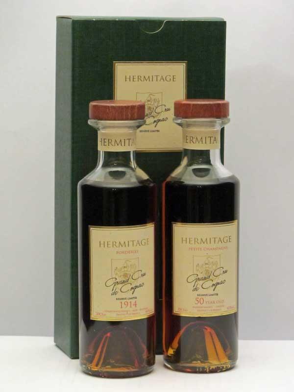 Hermitage 1914 & 50 Year Old Cognac Gift Presentation