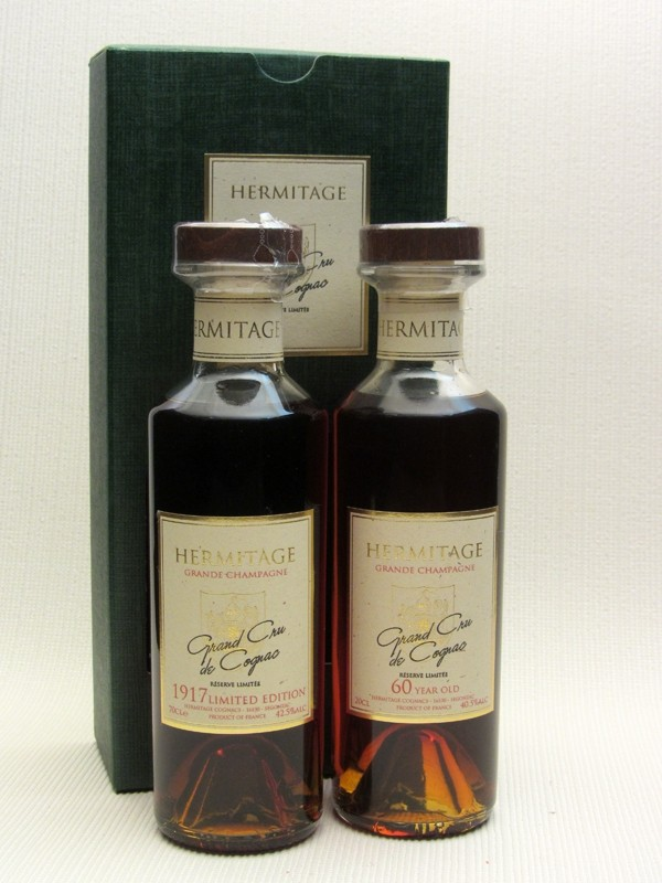 Hermitage 1917 & 60 Year Old Cognac Gift Presentation