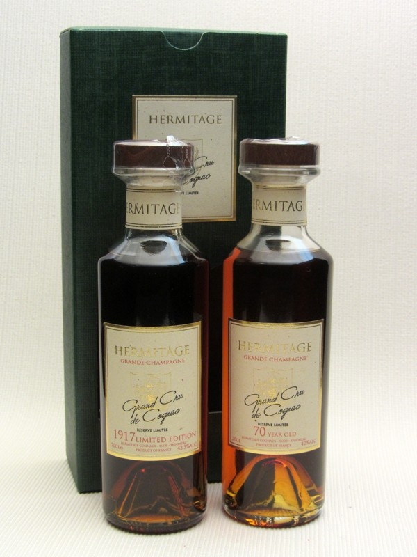 Hermitage 1917 & 70 Year Old Cognac Gift Presentation