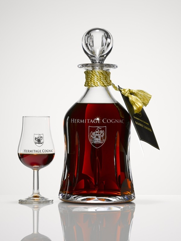 Hermitage Cognac Marie Louise Crystal Decanter