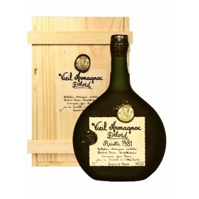 Delord 1981 Bas Armagnac - Damaged Wax Over Stopper