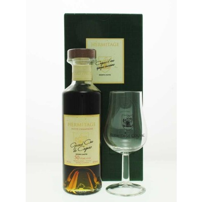 Cognac Gift Set - Hermitage 50 Year Old Petite Champagne Cognac