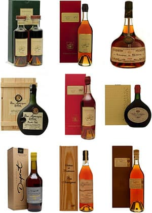 Our Vintage Brandies Range from 1900-2005