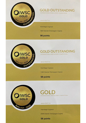 IWSC 2020 Medals - Excellent Results for Hermitage Cognacs