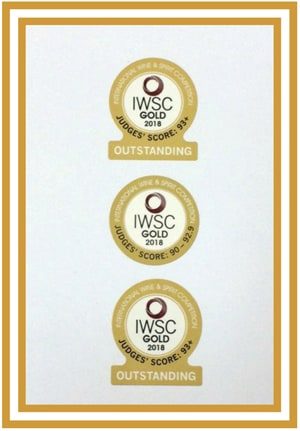 IWSC 2018 Gold Outstanding Medal Winners