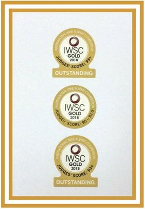 IWSC 2018 Gold Outstanding Medal Winners