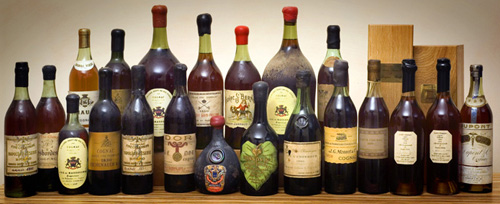 A collection of rare prephylloxera cognacs for sale online at BrandyClassics