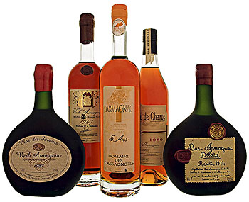 Some of the many fine armagnacs for sale online at BrandyClassics