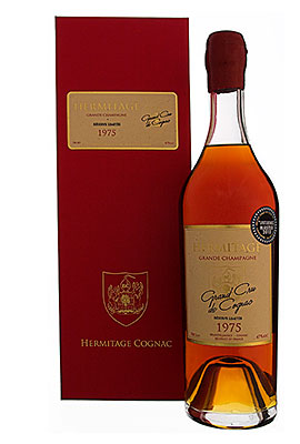 Bottles of award winning Hermitage vintage cognacs