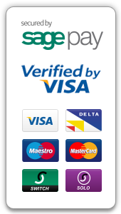 This site is protected by SagePay and Verified By Visa. We can accept payment from all major credit cards