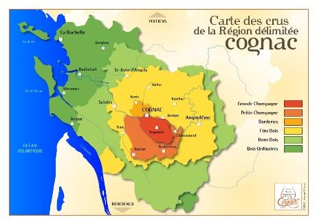 Cognac crus