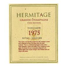 Hermitage 1975 Cognac label